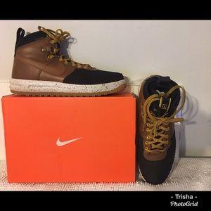 Nike Air LF1, Black & tan leather hightop boot